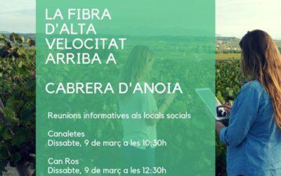 La Fibra XTA arriba a Cabrera d'Anoia
