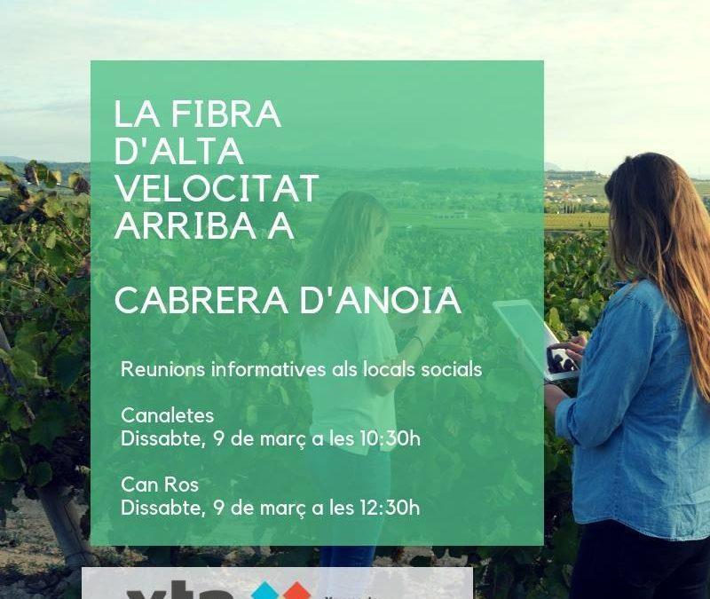 XTA Fibra i Internet d'alta velocitat a Cabrera d'Anoia