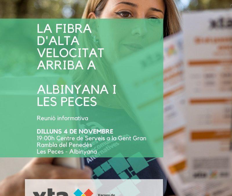 La Fibra XTA arriba a Albinyana
