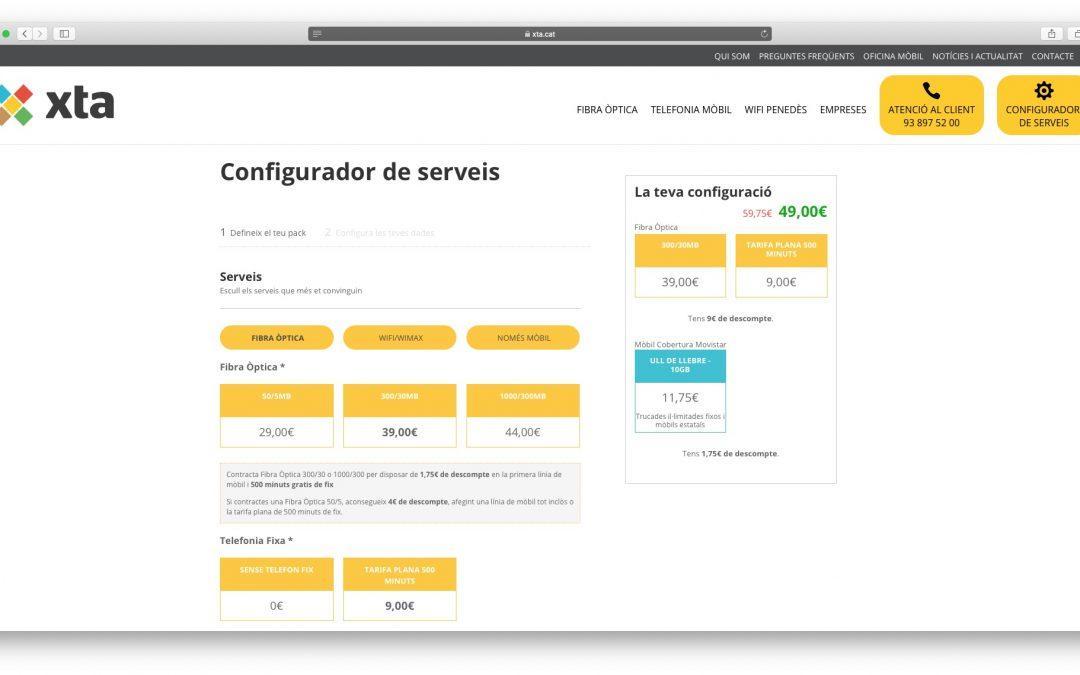 configurador de serveis d'XTA