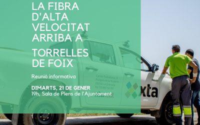 S'inicia l'estesa de fibra òptica a Torrelles de Foix